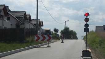 ul. Na Czekaj - budowa chodnika